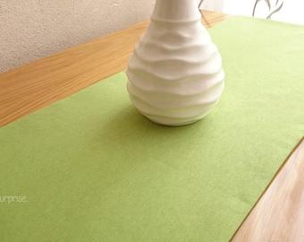 Solid Table Runner, Simple Table Runner, Decorative Table Runner, Modern Table Cover, Linen Tablecloth, Handmade Green Table Runner