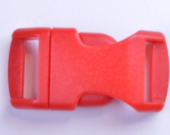 Red - 1/2 Inch Plastic Paracord Buckles