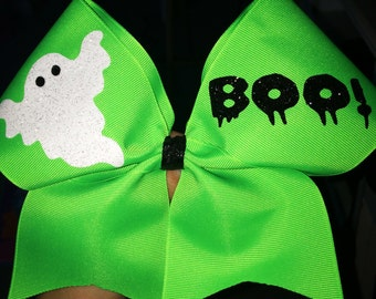 Boo Ghost Cheer Bow