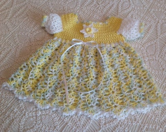 Newborn to 3 months Crochet Baby Dress Tutti Fruitti  PATTERN
