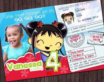 Ni Hao Kai Lan #1 Birthday Party invitation - custom diy printable