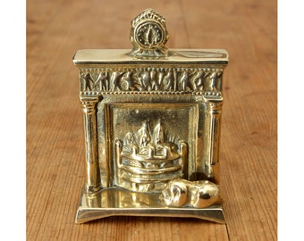 Vintage Fireplace Miniature || solid brass
