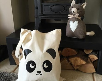 Super Cute Panda Tote Bag - Great For School, Book Bag, Birthday, Christmas Secret Santa Gift