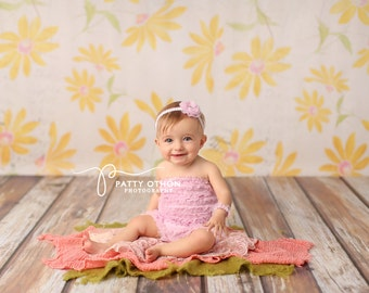SALE Photography Backdrop, Newborn Photography Backdrop, Vinyl Photography Backdrop, Baby Photography Background for Spring Floral - SPG130