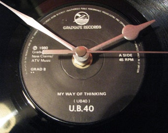 "U.B.40 my way of thinking 7"" vinyl record clock"