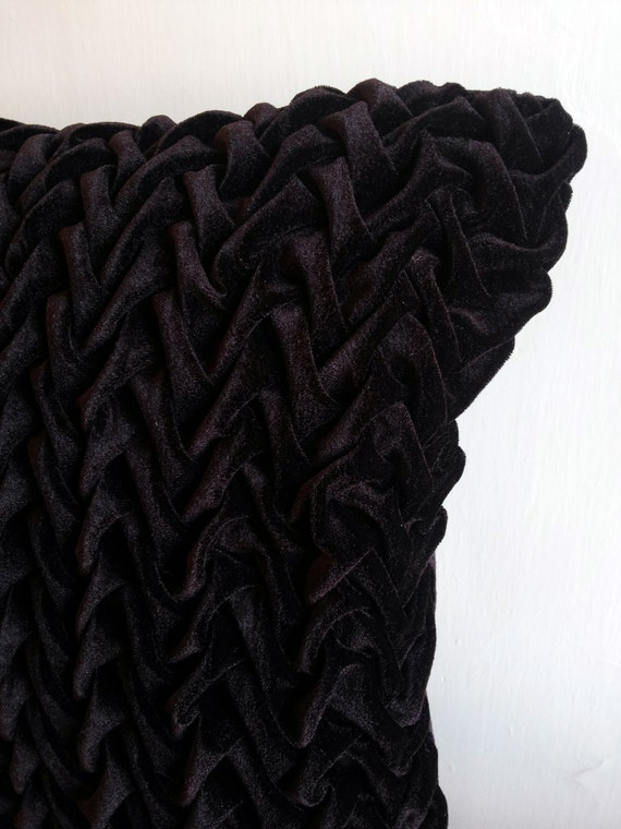 Brown Textured Throw Pillow : Brown Velvet Decorative Throw Pillow Cover 16x16 Velvet Throw