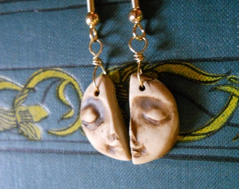 Soul Mates polymer clay earrings
