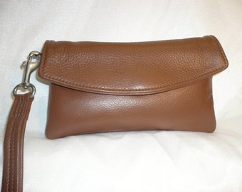 Soft leather Wristlet ,wallet,& clutch combo.Style #177W
