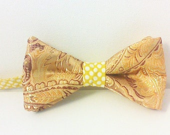 Items Similar To Golden Yellow Clip On Bow Tie In Your