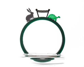Acrylic 'The Tortoise & The Hare' Bracelet Set