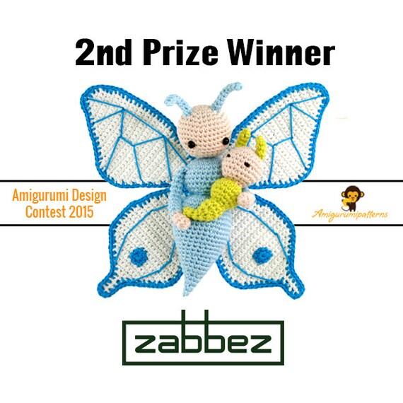 """Crochet pattern amigurumi doll """"Butterfly Bree"""" PDF"""
