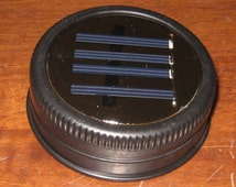 Set of 6 Mason Jar Solar Lid Lights - Great for Projects and Crafts - Black