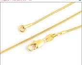 "Winter JEWELRY SALE 18K Yellow Gold Filled Necklace - Various Lengths, 18"" 20"" 24"" 26"" 28"" 30"""