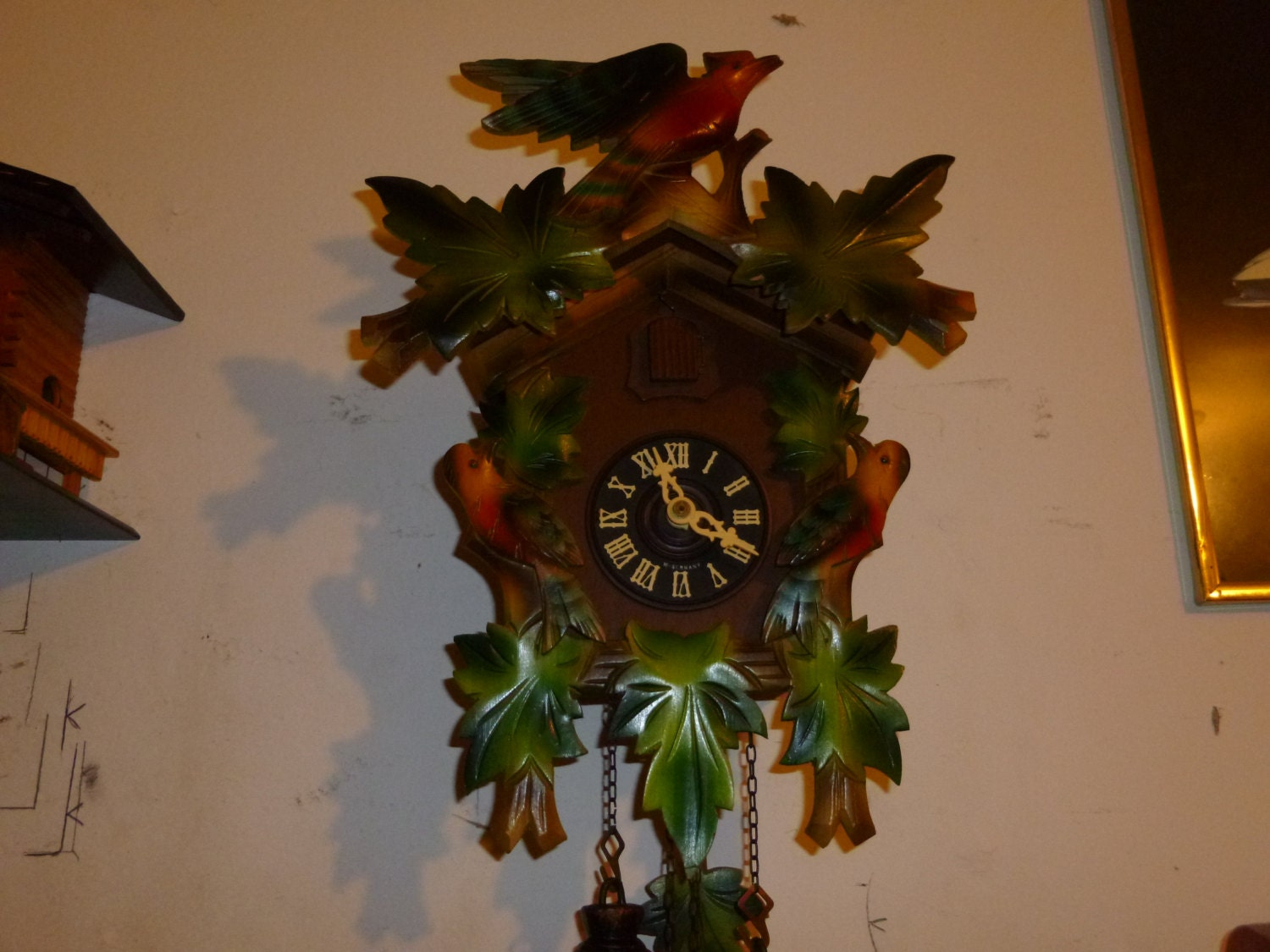 Vintage 1960 39 s colorful 8 day cuckoo clock - Colorful cuckoo clock ...