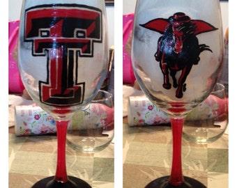 Texas Tech 20oz Wine Glass