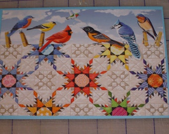 Feathered Star Quilt Note Cards and Envelopes by Rebecca Barker