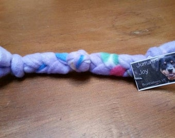Braided fleece dog toy 8 to 10 in. for the small dog / puppy