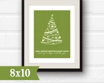 SALE holiday decor // Christmas decor // Christmas tree art // I will honor Christmas