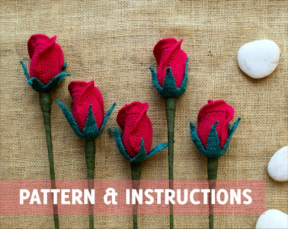 Crochet Rose Pattern And Instructions Closed By
