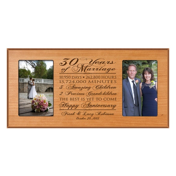 What Is The 30th Wedding Anniversary Gift: Personalized 30th Anniversary Gift For By DaySpringMilestones