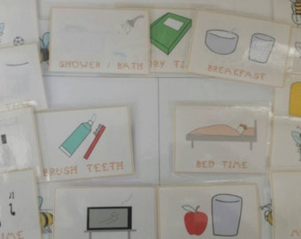 daily routine picture pecs cards for special needs aspergers autism asd transitional resources