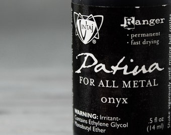Vintaj Onyx, Black patina,  vintaj paints, vintaj patinas, patina paints, Metal Patina, Black  patina, INV0020
