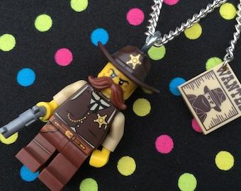 Sheriff Necklace... Handmade using LEGO® parts