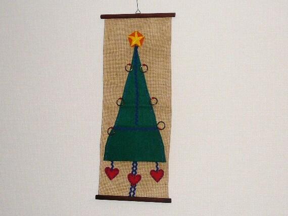 Vintage Christmas Wall Decor : Swedish vintage christmas wall decor with pocket for