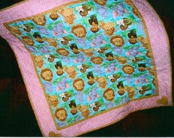 Animals at the Zoo - Baby/Toddler Quilt