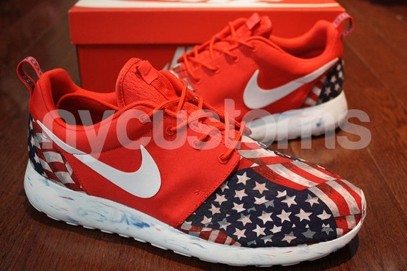 new styles 06eaf 8b2a7 ... pride print custom nike roshe run red marble american flag.