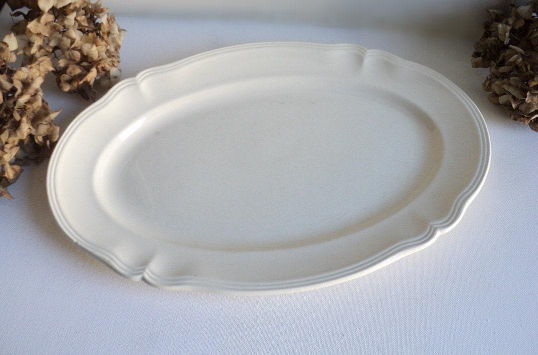 grand plat ovale ancien sarreguemines vaisselle fran aise. Black Bedroom Furniture Sets. Home Design Ideas