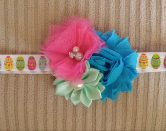 Pink, Mint Green, and Bright Blue Easter Egg Headband