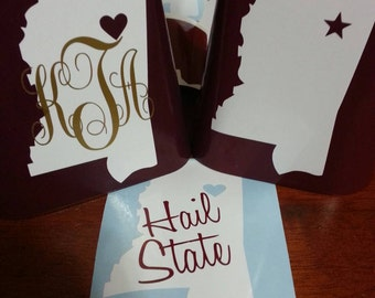 2+ DIY MSU Cowbell Decorating Decals - Hail State - Maroon! White!