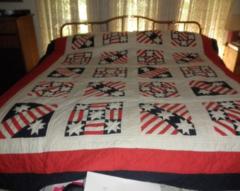 Vintage Red, White, & Blue Comforter/Bed spread PRICE REDUCED