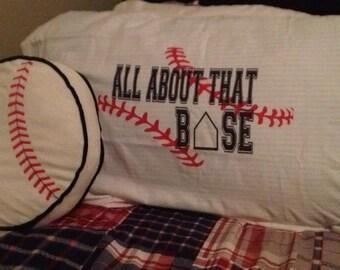 Pillowcase Baseball Pillowcase Sports Pillowcase Baseball Decor Baseball Bedding Baseball Humor
