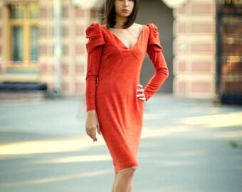 Robe Orange Elegance