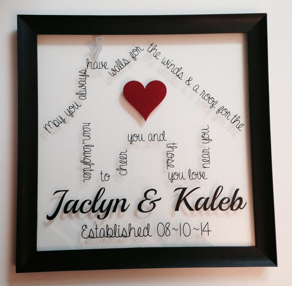 Wedding or housewarming gift irish blessing 12x12 by makeitamy - House warming blessing ...