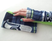 Seattle Seahawks Lime Green & Blue Plaid Armwarmers