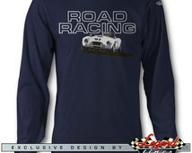 AC Shelby Cobra Road Racing Long Sleeves T-Shirt - Lights of Art - Multiple colors available, Size: S - 3XL, AC Cobra Replica Roadster Gift