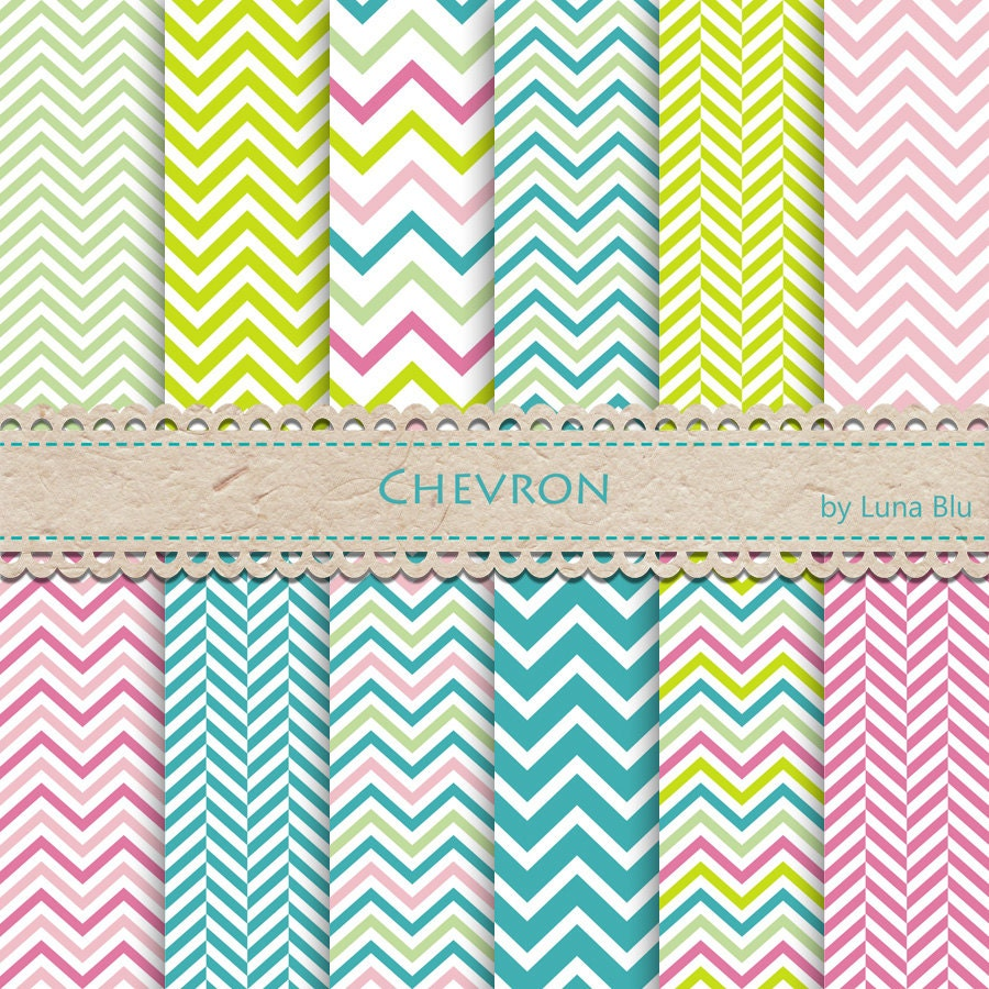 """New Item added to my shop:Chevron Digital Paper: """"Spring ..."""