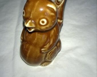 vintage glass bird  or squirrel whistle,brown, cute sound,ceramic,bird whistle