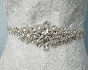 Wedding Belt, Bridal Belt, Sash Belt, Crystal Rhinestone Belt, Style 1105