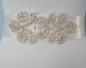Wedding Belt, Bridal Belt, Bridal Sash Belt, Crystal Rhinestone Belt, Style 215