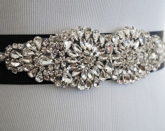 Wedding Sash, Wedding Belt, Bridal Belt, Sash Belt, Crystal Rhinestone Belt, Style 145