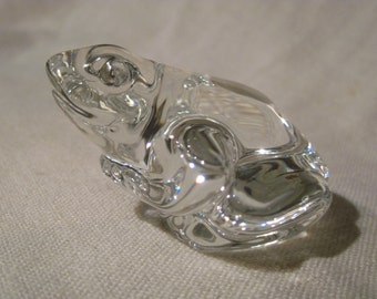 Swarovski Ebeling & Reuss Crystal Signatures Frog with Original Box, Beautiful!