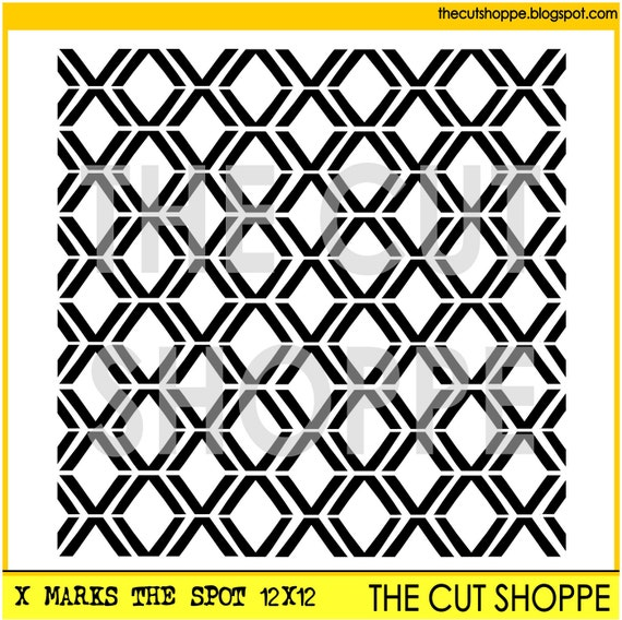 The X Marks the Spot background cut file is available in 8.5x11 & 12x12 sizes, for your scrapbooking and papercrafting projects.