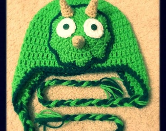 Triceratops Handmade Crocheted Hat