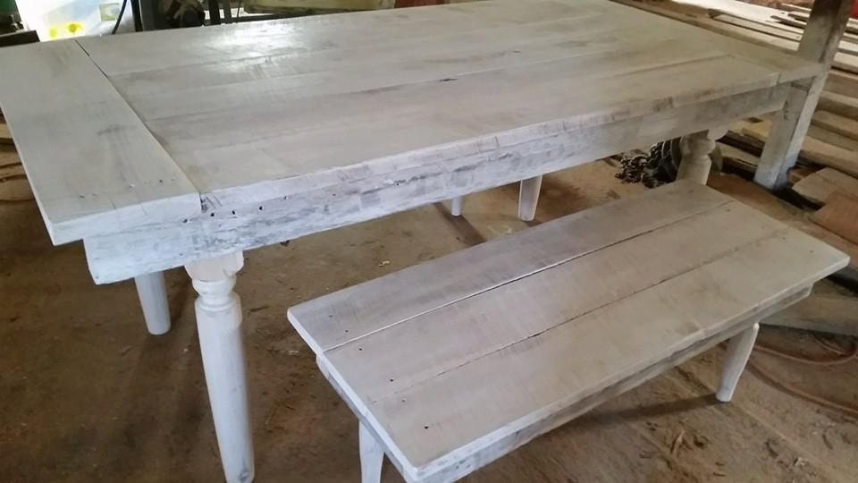 Whitewashed Reclaimed Barn Wood Farmhouse by WoodenWhaleWorkshop