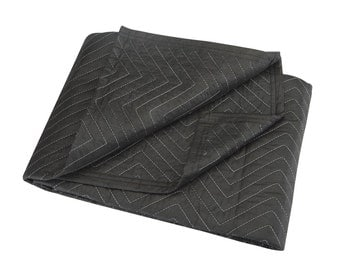 MOVERS BLANKET HAUL-Master 40x72 69504 Black Double Stitched Thick blanket moving storage hunting camping cotton filled