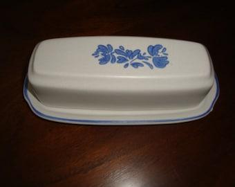 Pfaltzgraff USA YORKTOWNE Salt Glazed Stoneware Butter Dish!